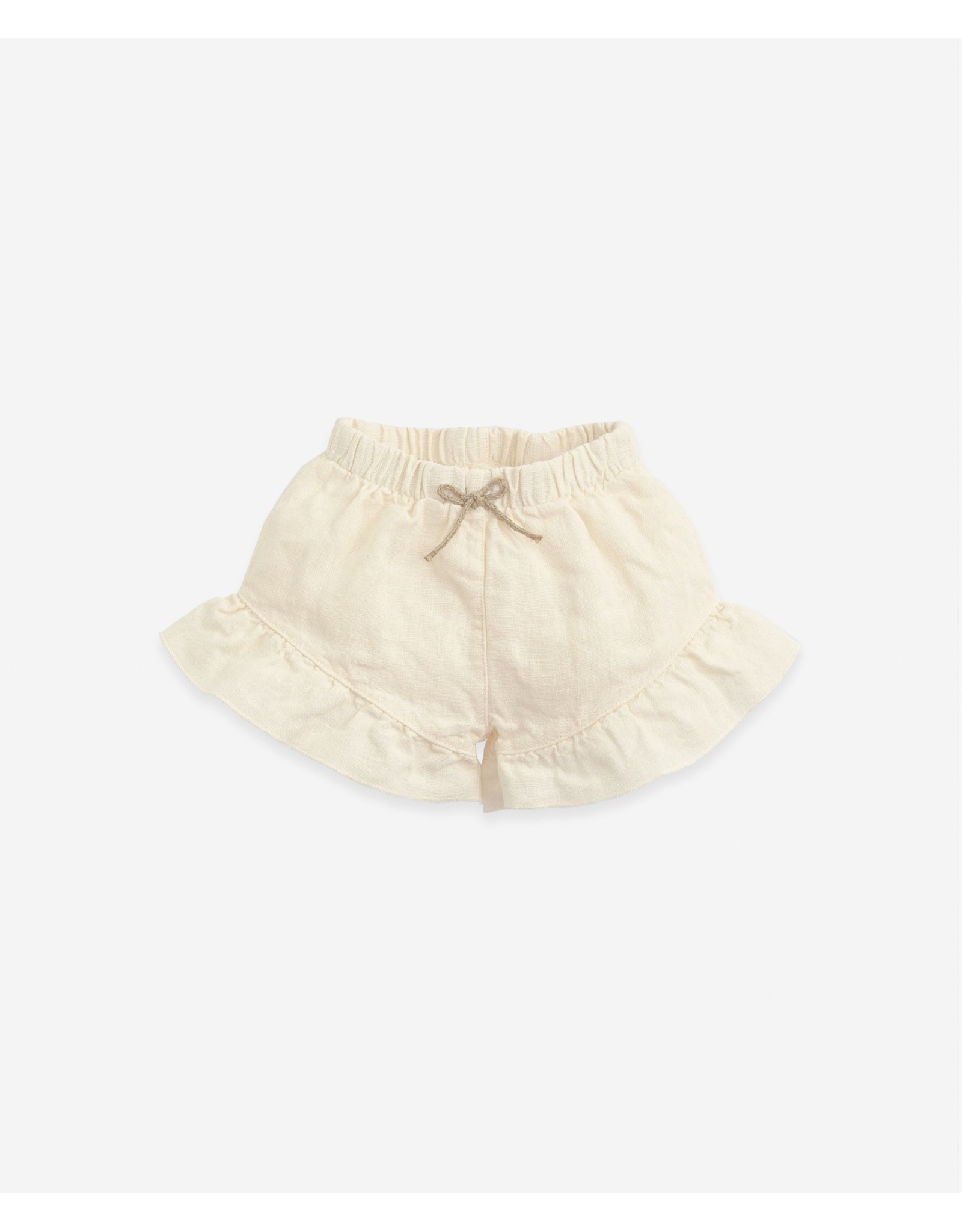 Play Up Play Up Linen shorts with a frill Dandelion