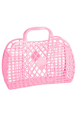 Sunjellies Sunjellies Retro Basket - Large Bubblegum Pink