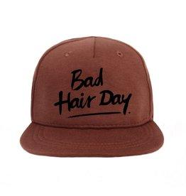 Van Pauline Van Pauline Cap Red met zwarte print  Bad Hair Day  (86-92 cm)