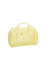 Sunjellies Sunjellies Retro Basket - Small  Yellow