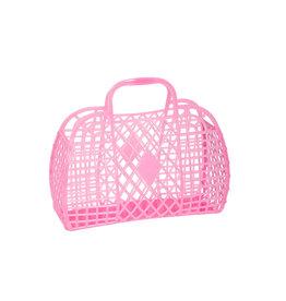 Sunjellies Sunjellies Retro Basket - Small  Neon Pink