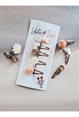 Lobster Love Lobster Love Haarspeldjes 5cm 'Lovely Flowers'  5 stuks