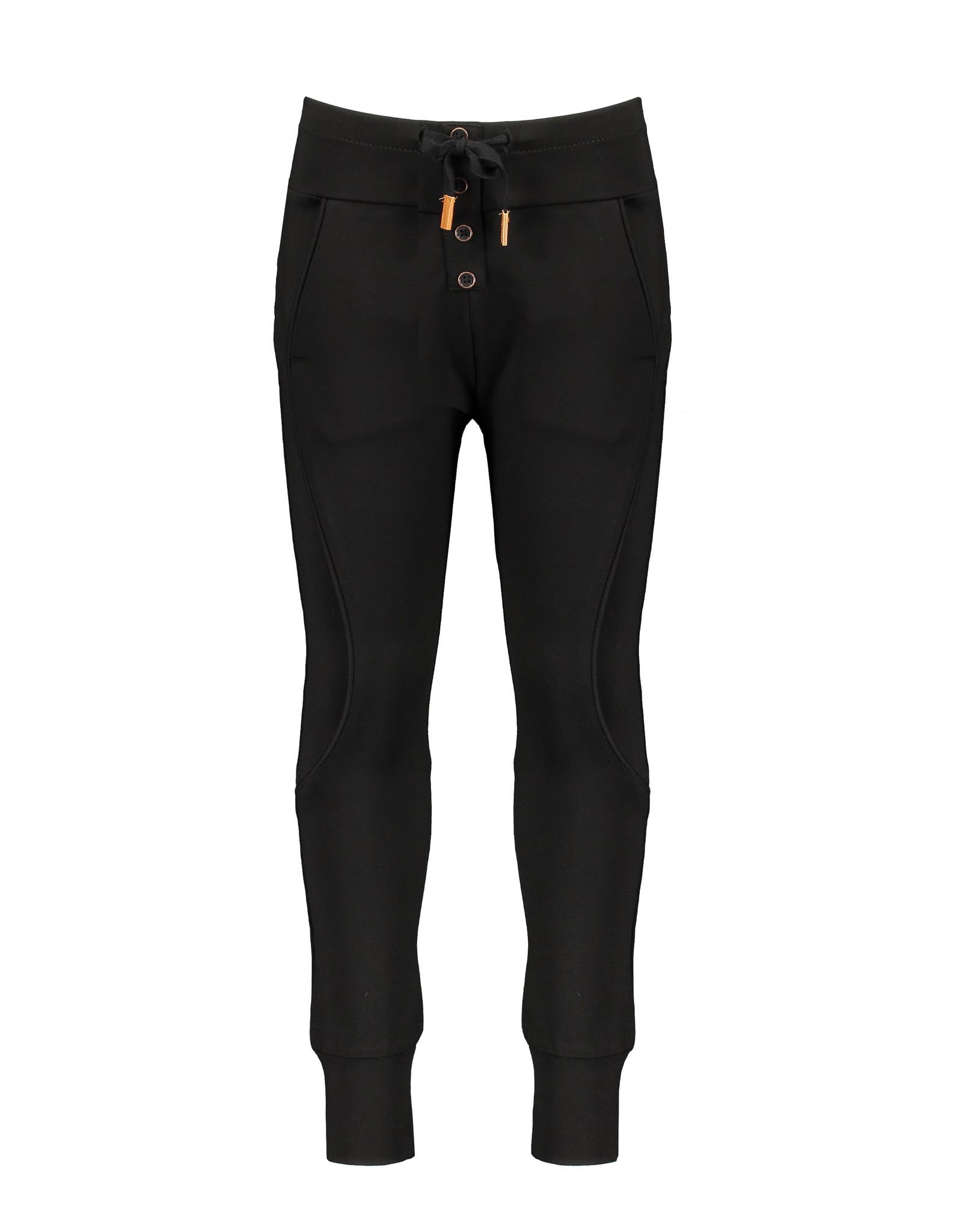 NONO NoNo Soso Pants With Fancy Seams Jet Black
