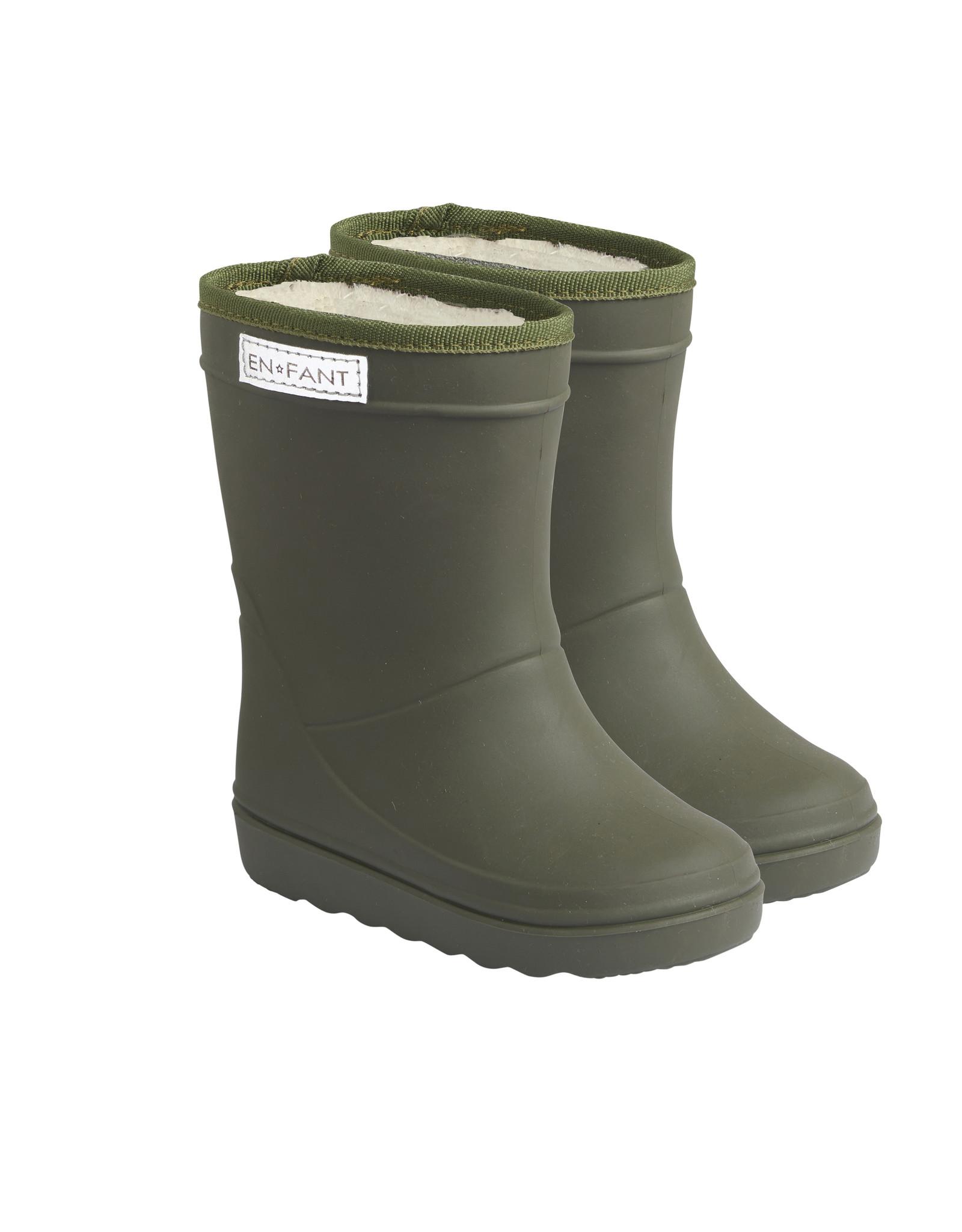 EN FANT En Fant Thermo Boots Solid Dusty Olive