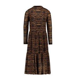 Like Flo Like Flo Girls AO Mesh Long Dress Camel