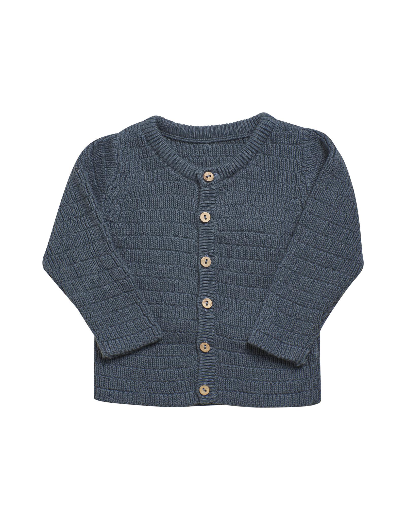 EN FANT En Fant Cardigan Knit GOTS Certified Dark Slate