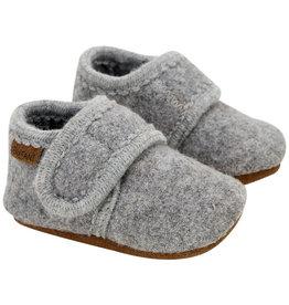 Enfant En Fant Baby Wool Slippers Grey Melange