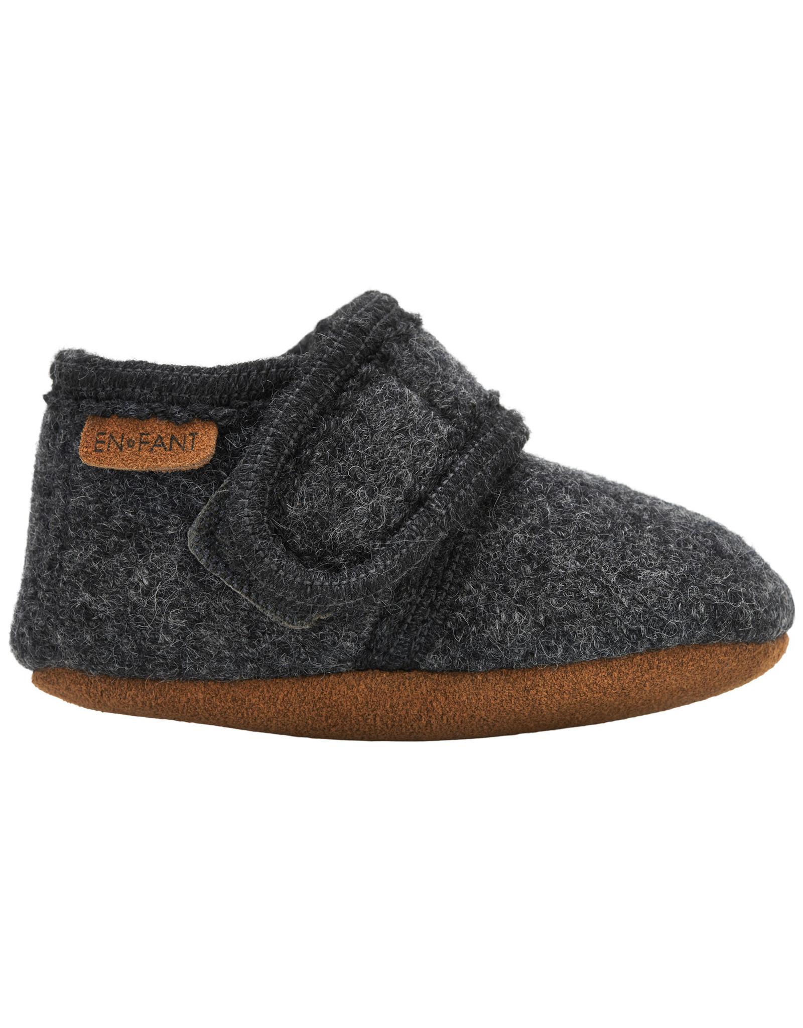 EN FANT En Fant Baby Wool Slippers Dark Grey Melange