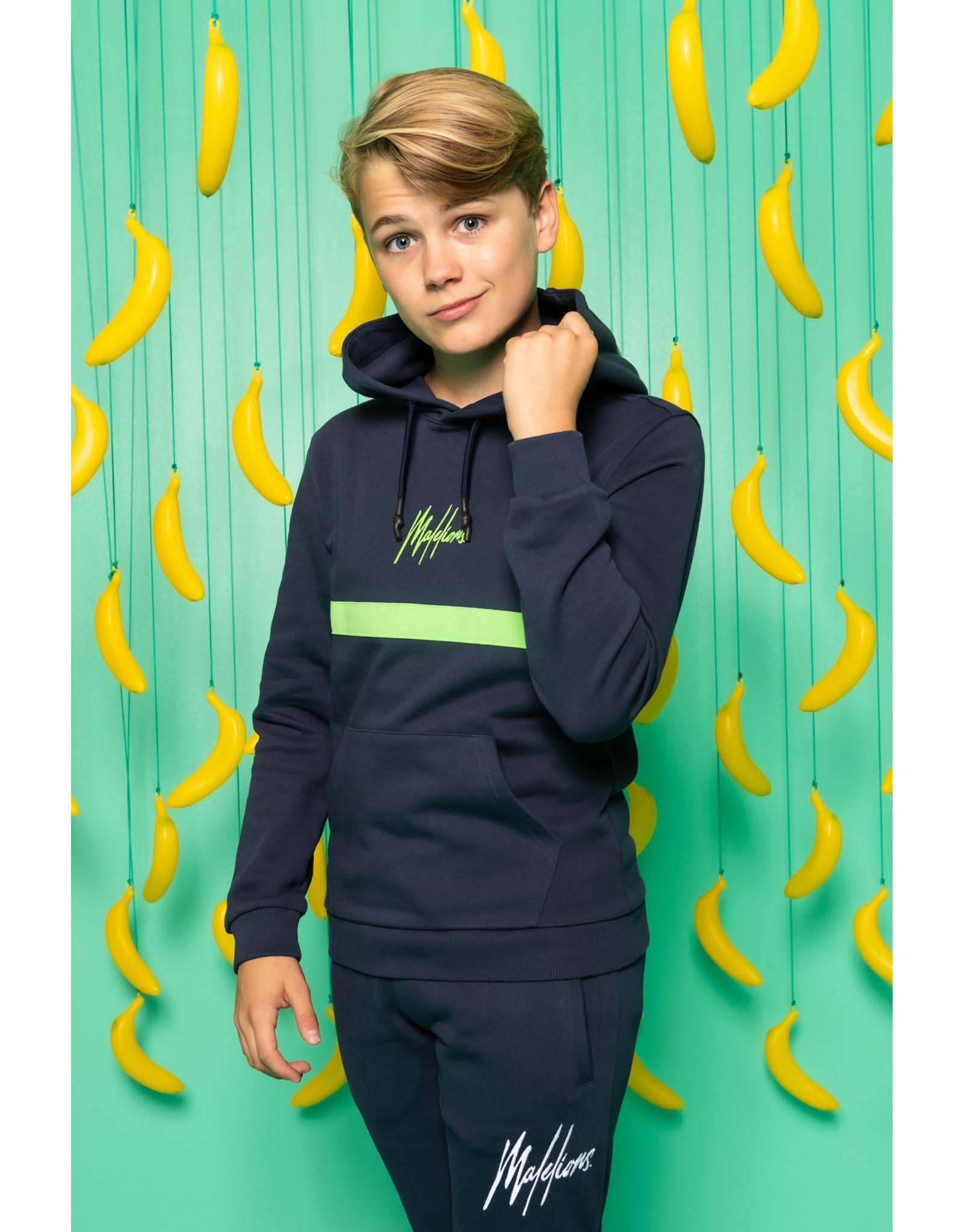 Malelions Malelions Junior Tonny Hoodie Navy-Green