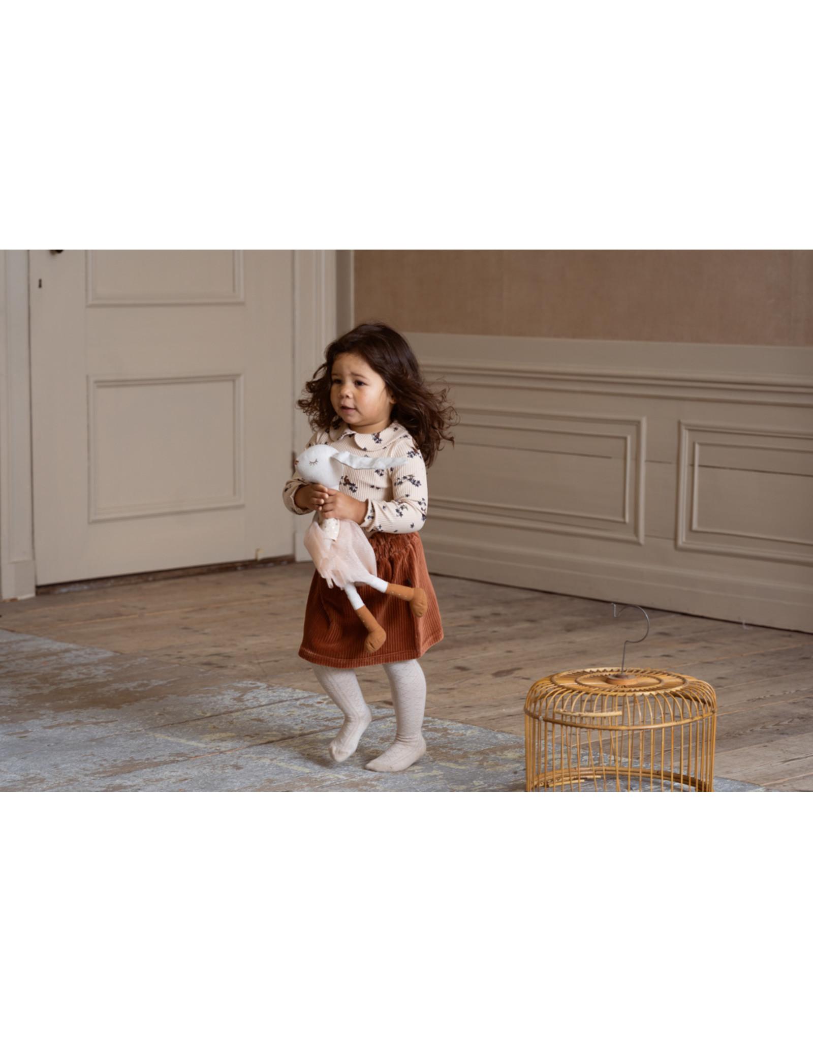 House of Jamie House of Jamie Paperbag Skirt Ginger Bread Rib Velvet