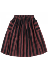 Sproet & Sprout Sproet & Sprout Midi Skirt Painted Stripe Fig