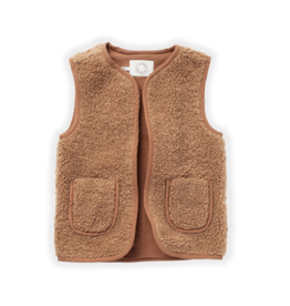Sproet & Sprout Sproet & Sprout Teddy Gilet Nougat