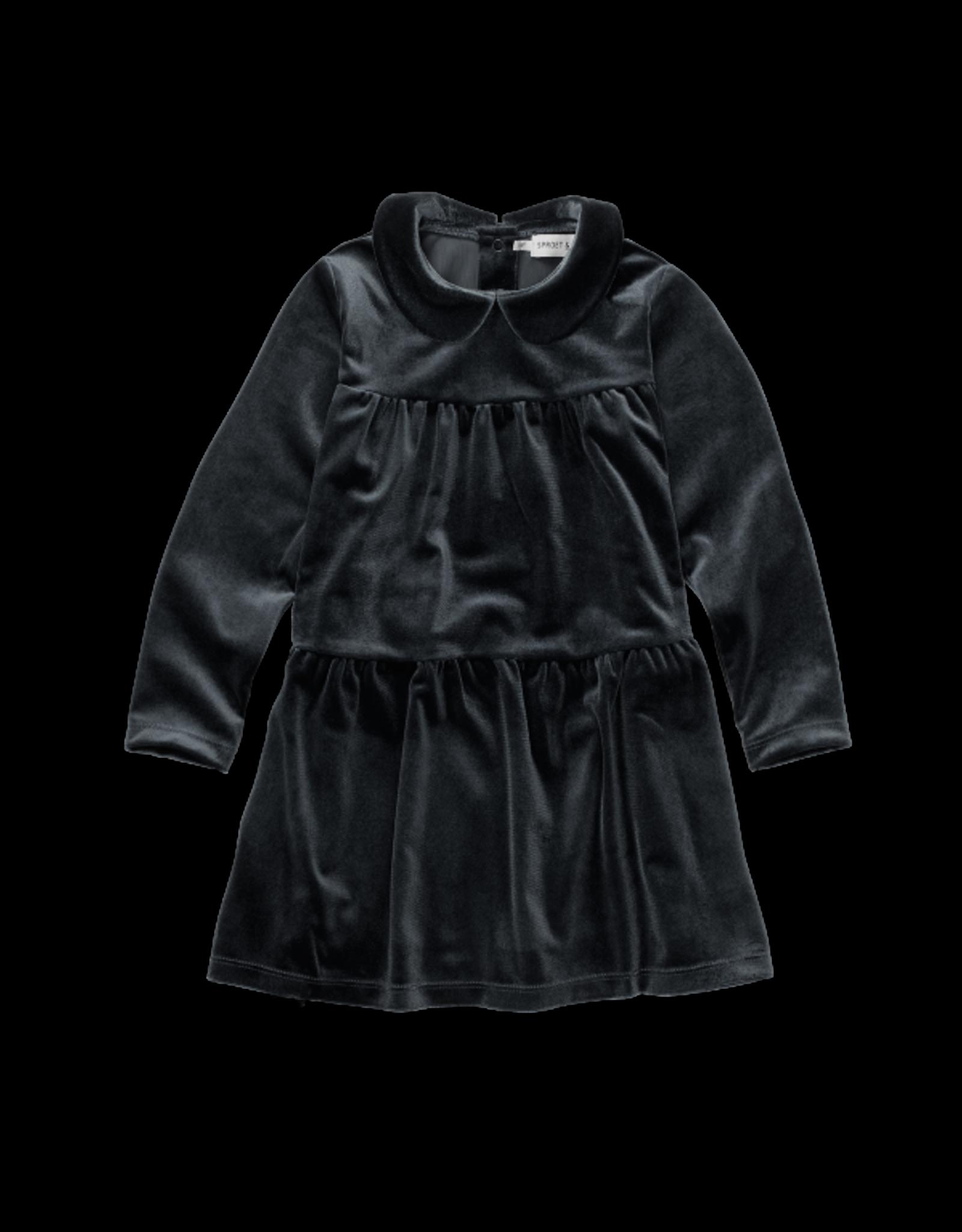 Sproet & Sprout Sproet & Sprout Dress Velvet Black
