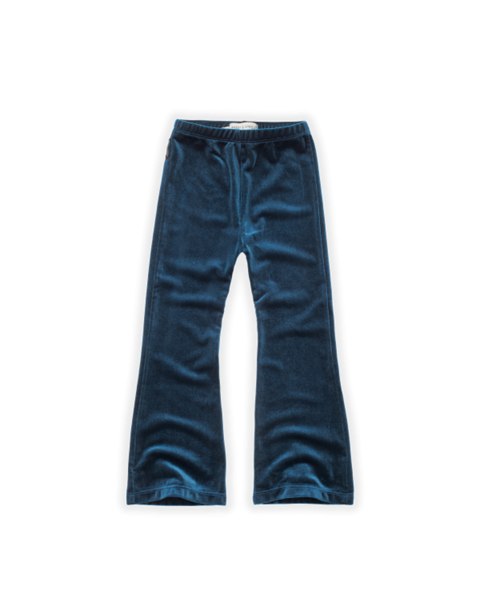 Sproet & Sprout Sproet & Sprout Flared Pants Velvet Blue Lake Blue