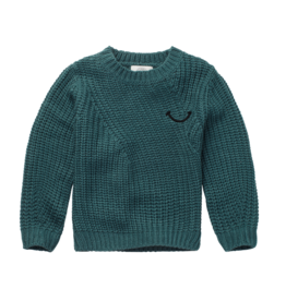 Sproet & Sprout Sproet & Sprout Sweater Smile Pine Green