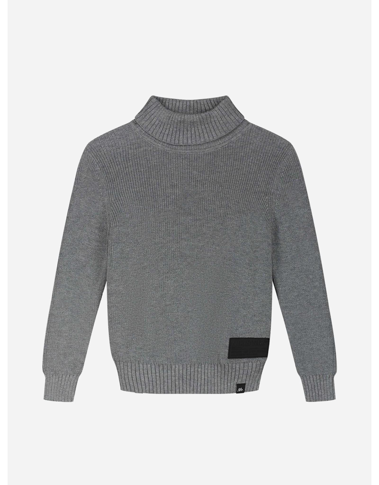 Nik&Nik NIK&NIK Hos Pullover Medium Grey Melange