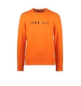 TYGO & Vito Tygo & Vito Sweater T&V Embro Shocking Orange