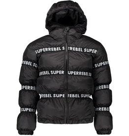 Super Rebel Super Rebel Outdoor Jacket Elastic SR Tape Black