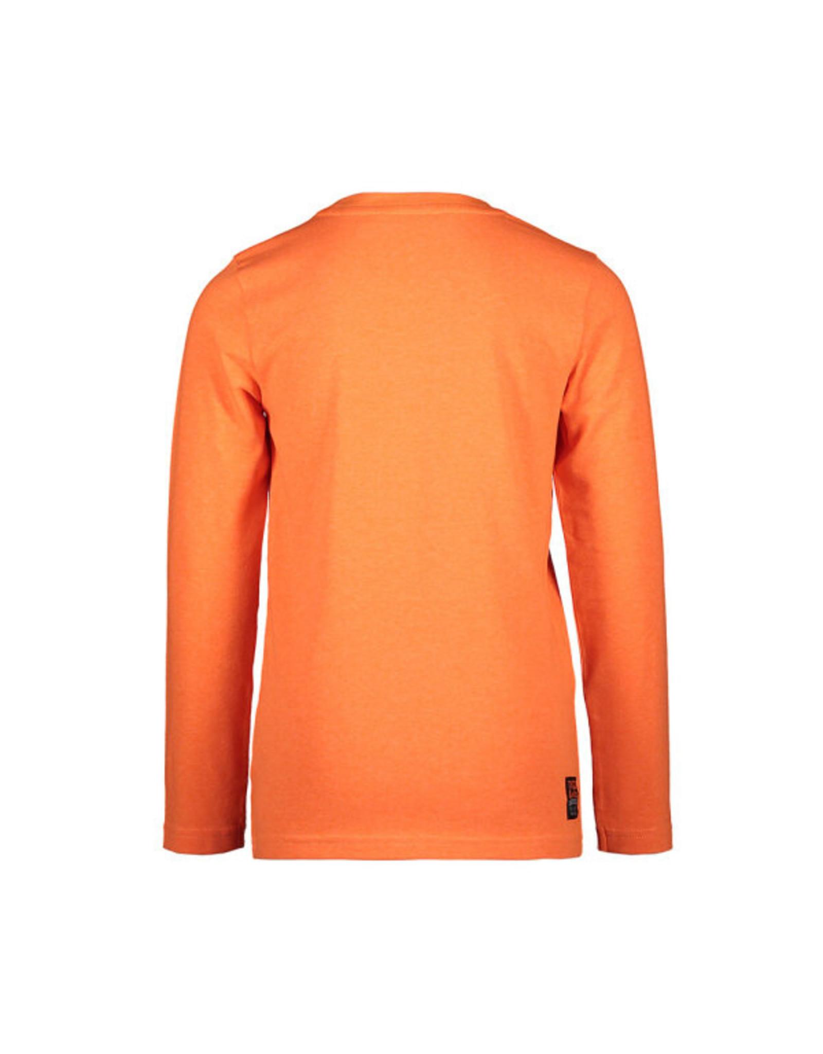 TYGO & Vito TYGO & Vito Longsleeve Round Logo Print Neon Shocking Orange