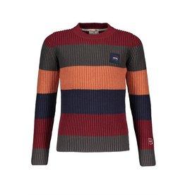 Red & Blu Red & Blu Knitted Stripe  Plain Sweater Multi
