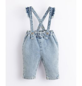 Play Up Play Up Denim Dungaree with frill on the straps
