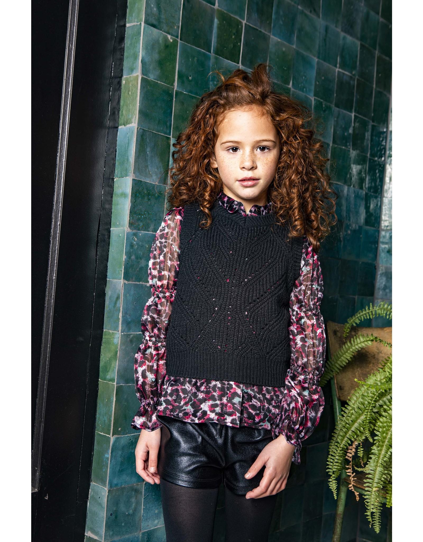B.Nosy B. Nosy Girls Heavy Knitted Spencer Black