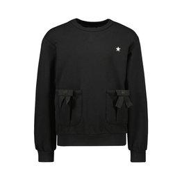 Like Flo Like Flo Girls Sweater With Bow Black