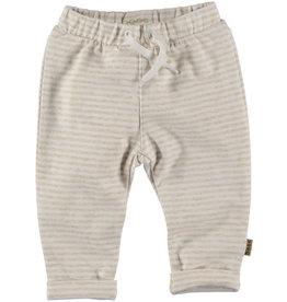 BESS Bess Pants Striped Off White