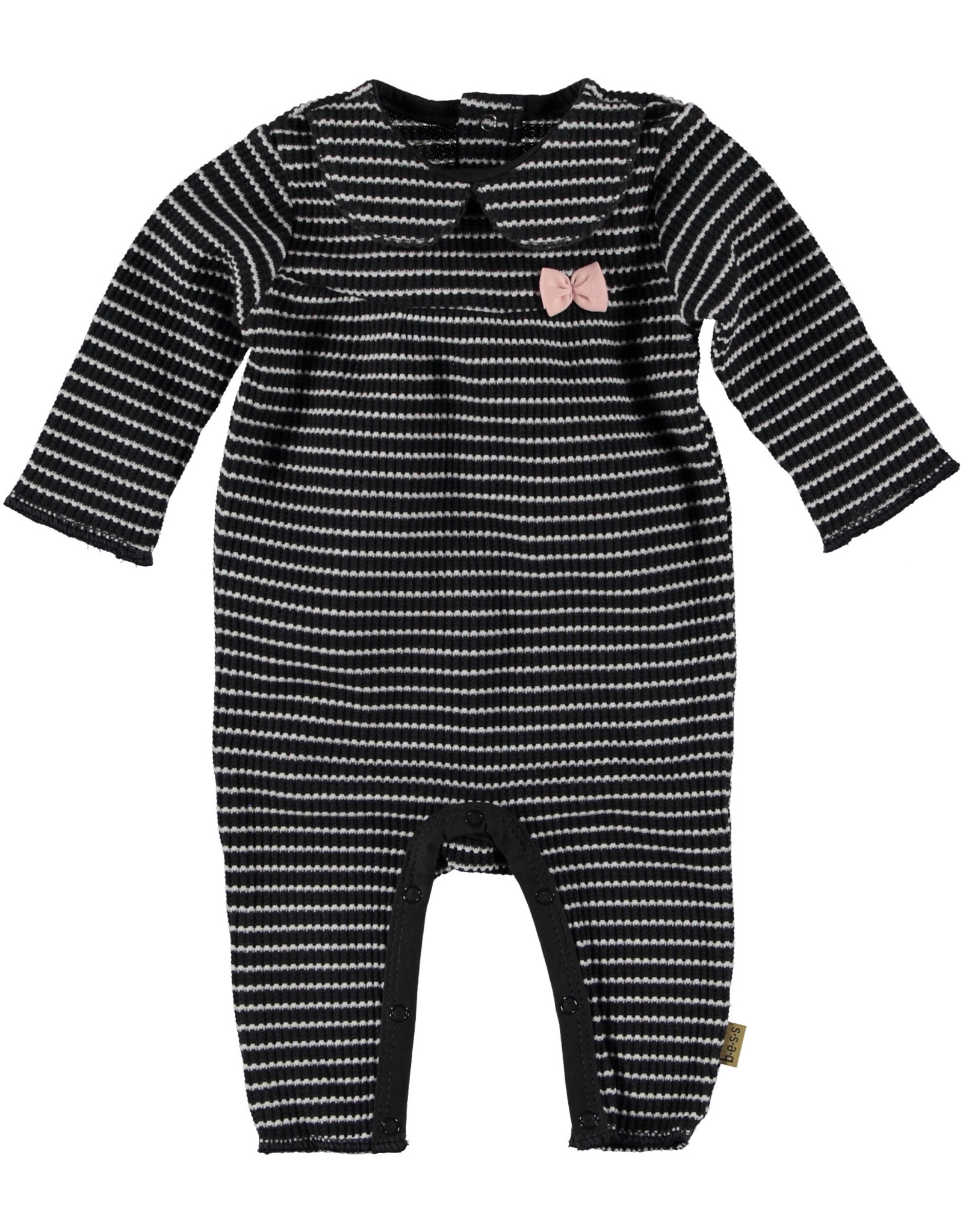 BESS Bess Suit Longsleeve Striped Bow Anthracite