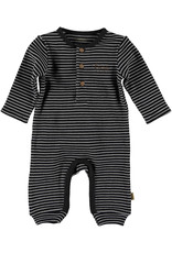 BESS Bess Suit Longsleeve Striped Henley Anthracite