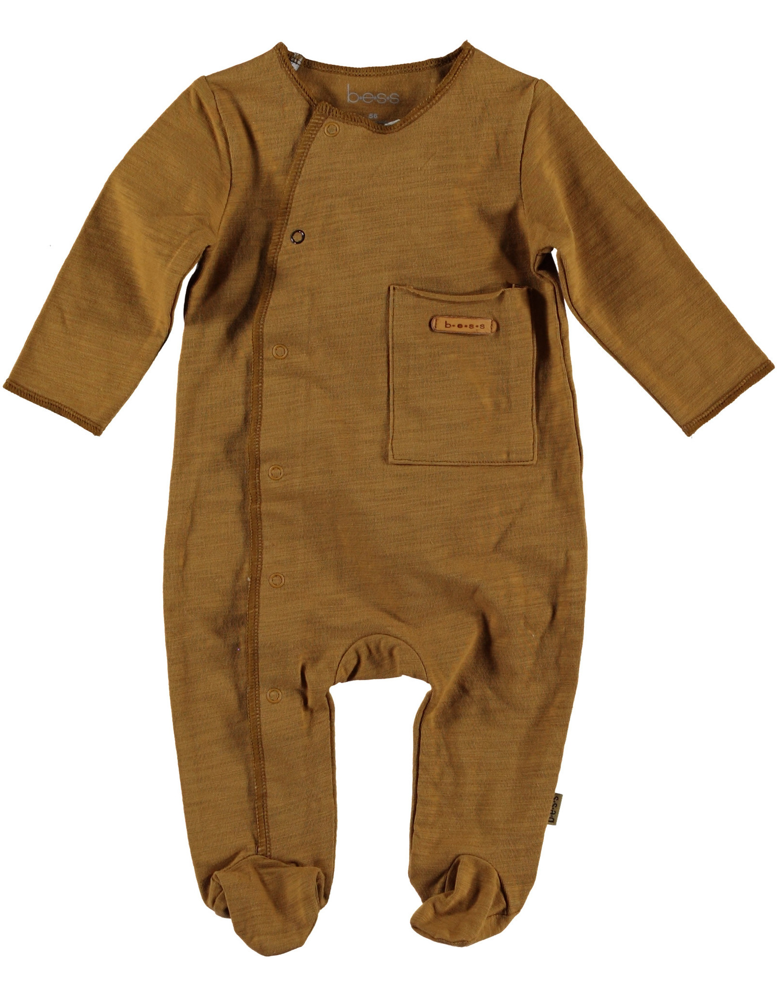 BESS Bess Suit Longsleeve Pocket Brown