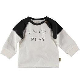 BESS Bess Shirt Longsleeve Let`s Play Off White