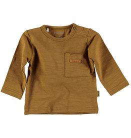 BESS Bess Shirt Longsleeve Pocket Brown