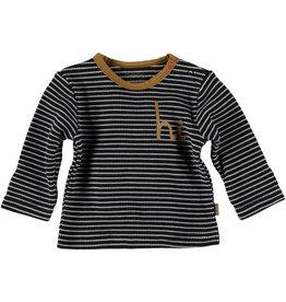 BESS Bess Shirt Longsleeve Striped HI Anthracite