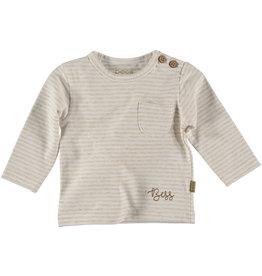 BESS Bess Shirt L.sl. Striped Off White