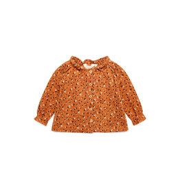 Moodstreet Petit Moodstreet PETIT Knitted Long Sleeve Dress Roun Flower Caramel