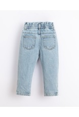 Play Up Play Up Denim Trousers with frill on the waist