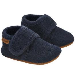 Enfant En Fant Baby Wool Slippers Navy