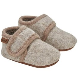 Enfant En Fant Baby Wool Slippers Sand Melange