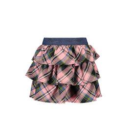 B.Nosy B.Nosy Girls 3-Layer Check Skirt Warrior Candy Check