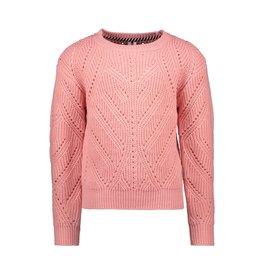 B.Nosy B.Nosy Girls Heavy Knitted Cardigan Punch Pink