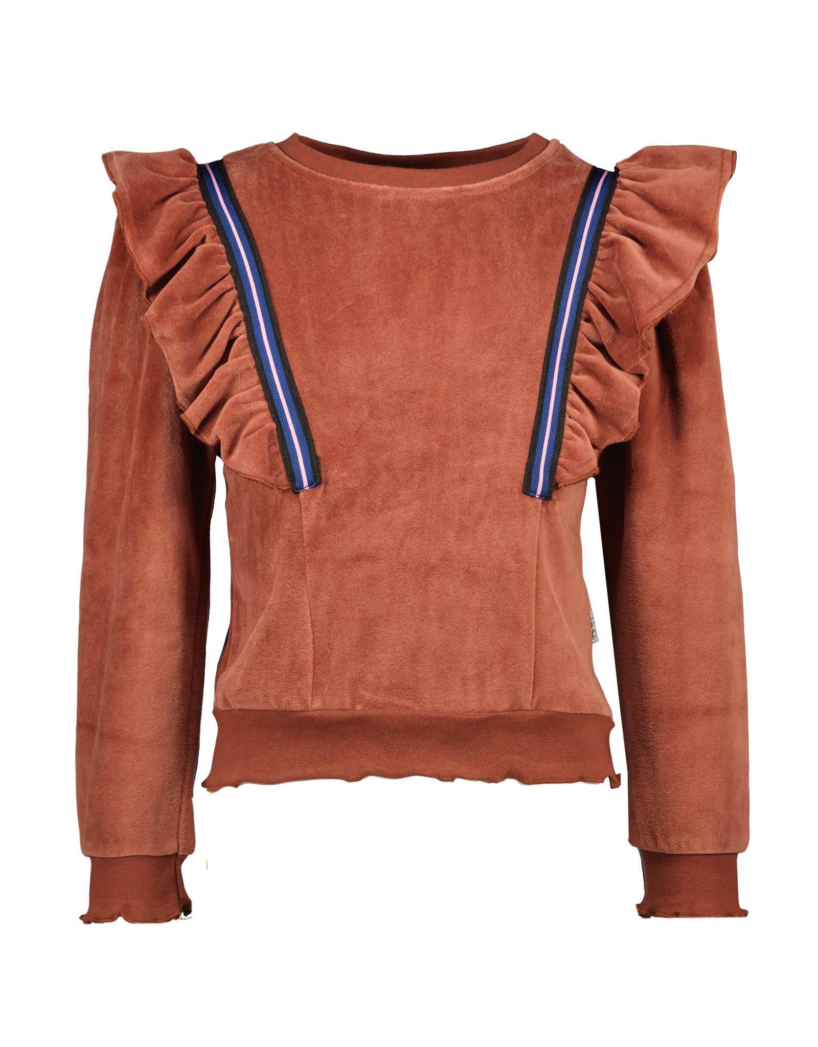 B.Nosy B.Nosy Girls Velvet Sweater Brique