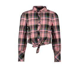 B.Nosy B.Nosy Girls Check Blouse With Knot Warrior Candy Check
