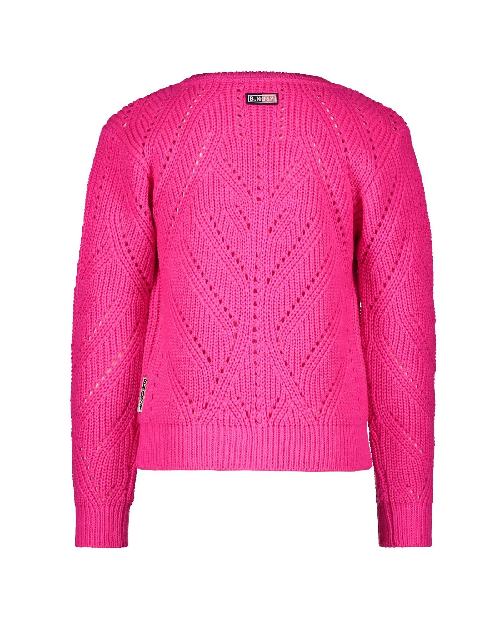 B.Nosy B.Nosy Girls Heavy Knit Cardigan Pink Glo