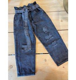 Kiezel Kiezel Jeans Ripped Belt Black
