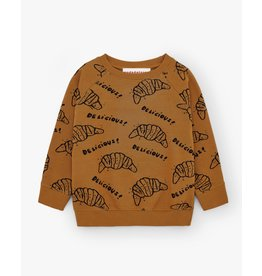Nadadelazos Nadadelazos Sweatshirt Delicious Croissant Cocao Brown