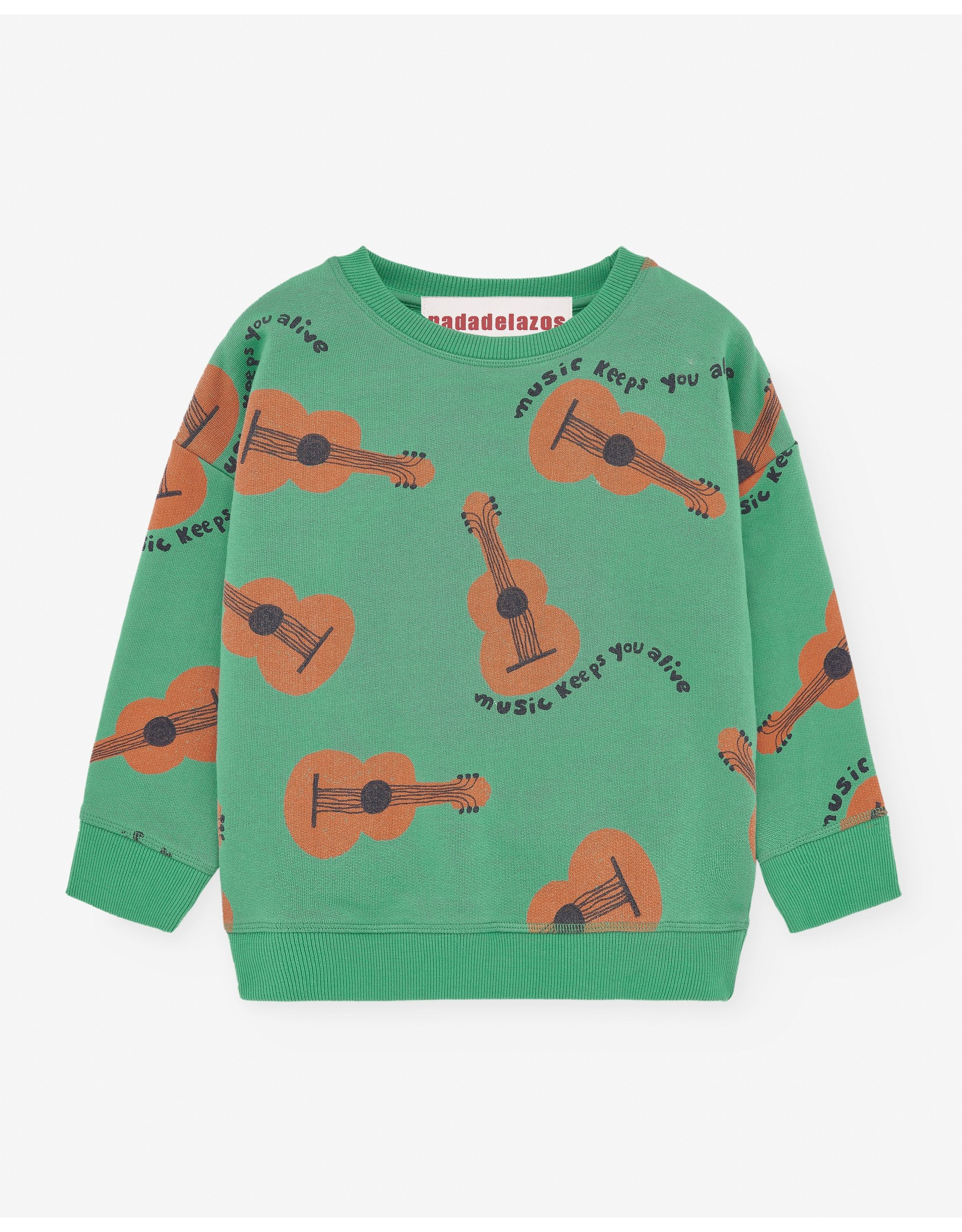 Nadadelazos Nadadelazos Sweatshirt Music Keeps You Alive Tree Green Light