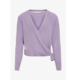 Kids Only Only Kids Kogjolie Life L/S  Wrap Pullover Knit Purple