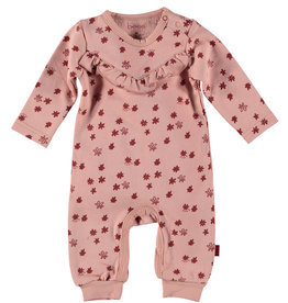 BESS Bess Suit All Over Print Ruffles Dusty Rose