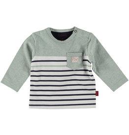 BESS Bess Shirt Longsleeve Striped With Pocket Mint